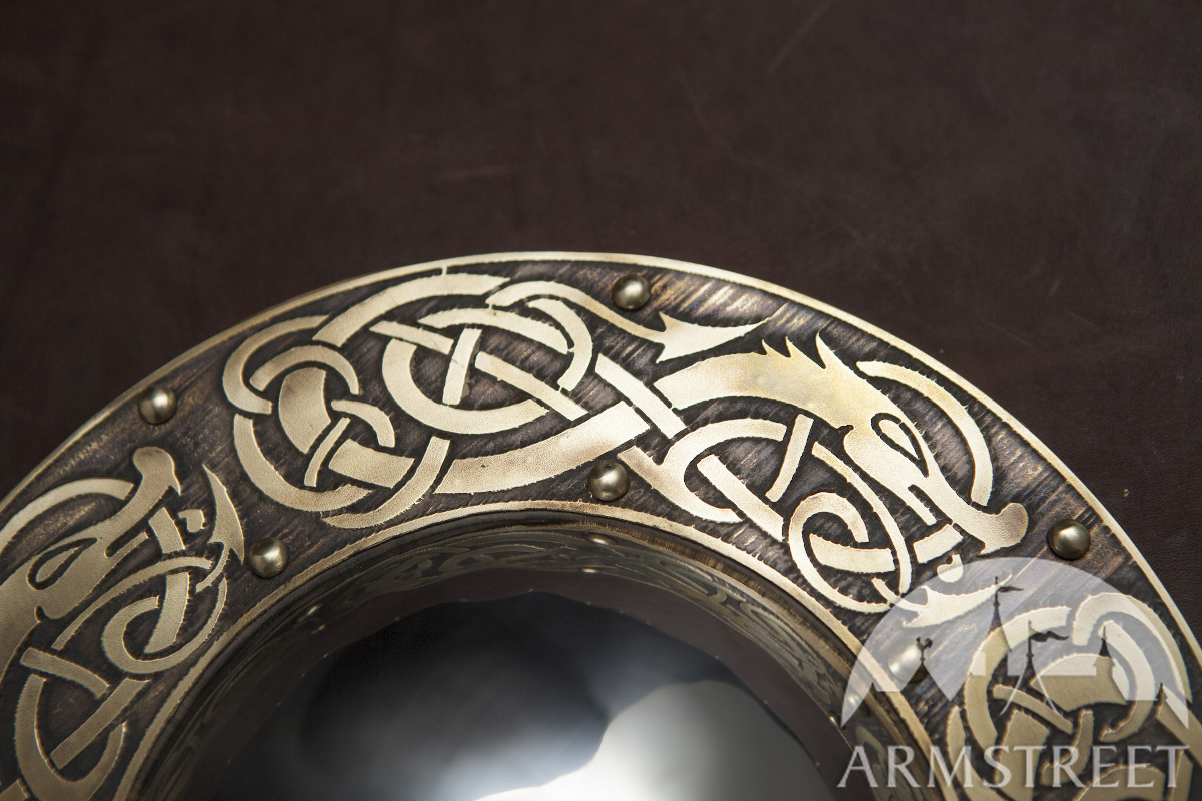 Viking Shield Boss Dragon Available In Brass
