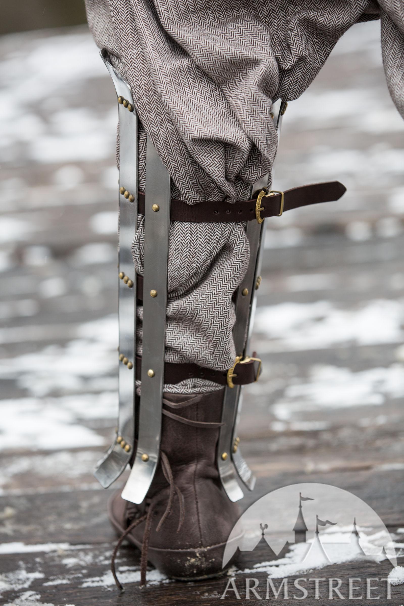 Viking Splint Greaves Olegg The Mercenary For Sale