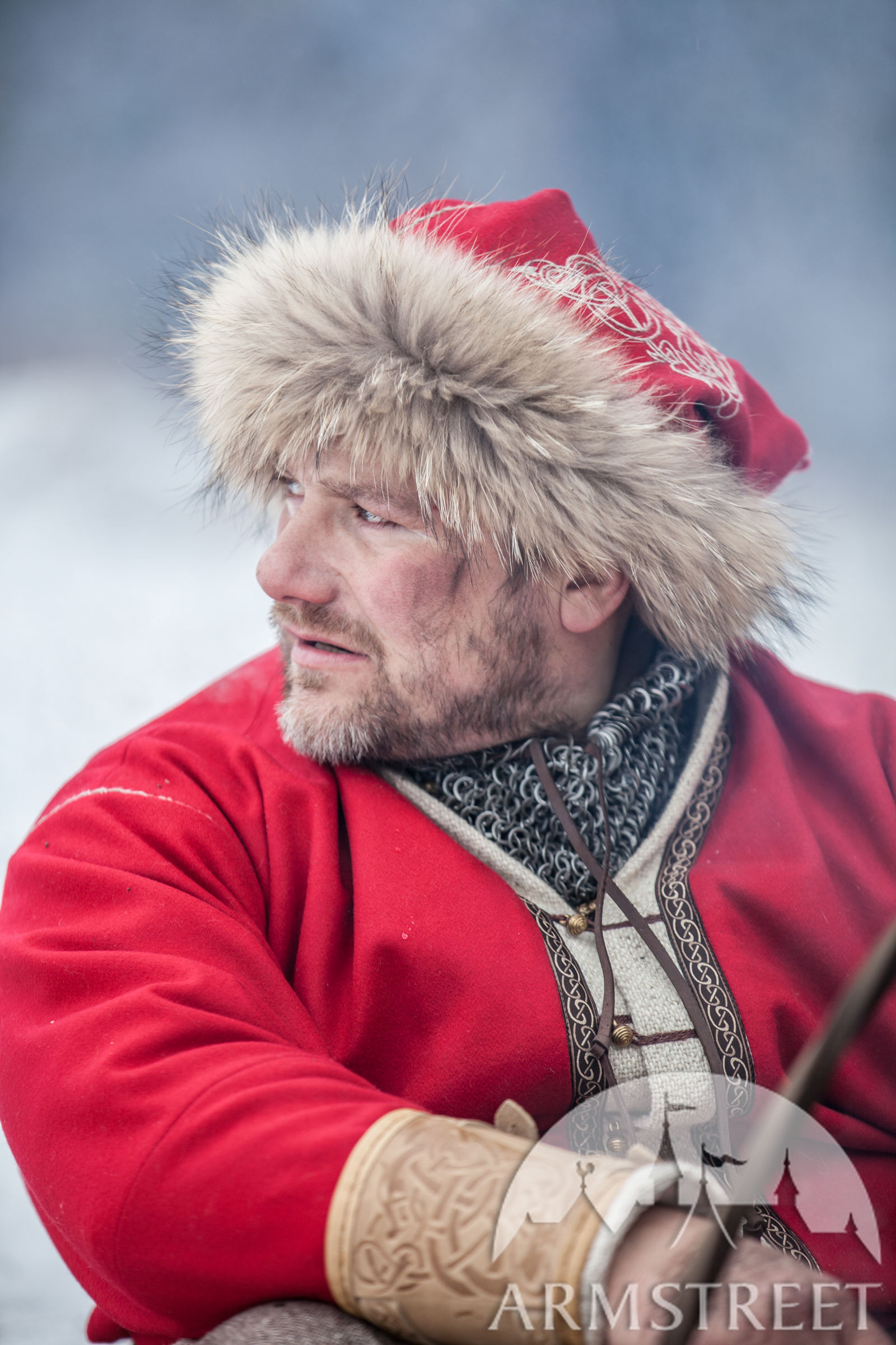 Viking Winter Hat Yule Edition Available In Red Wool