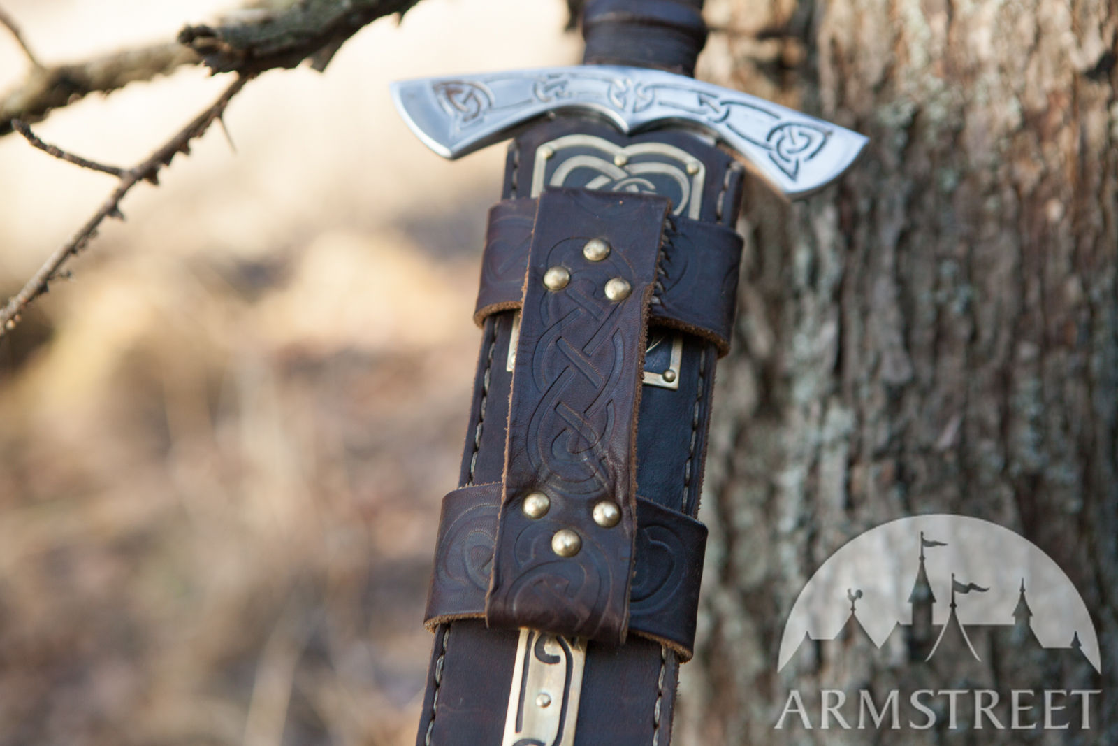 Viking S Sword Sheath Available In Brown Leather Black
