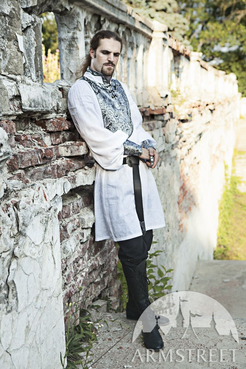 Medieval Wedding Men's Shirt. Available In: Black Fine