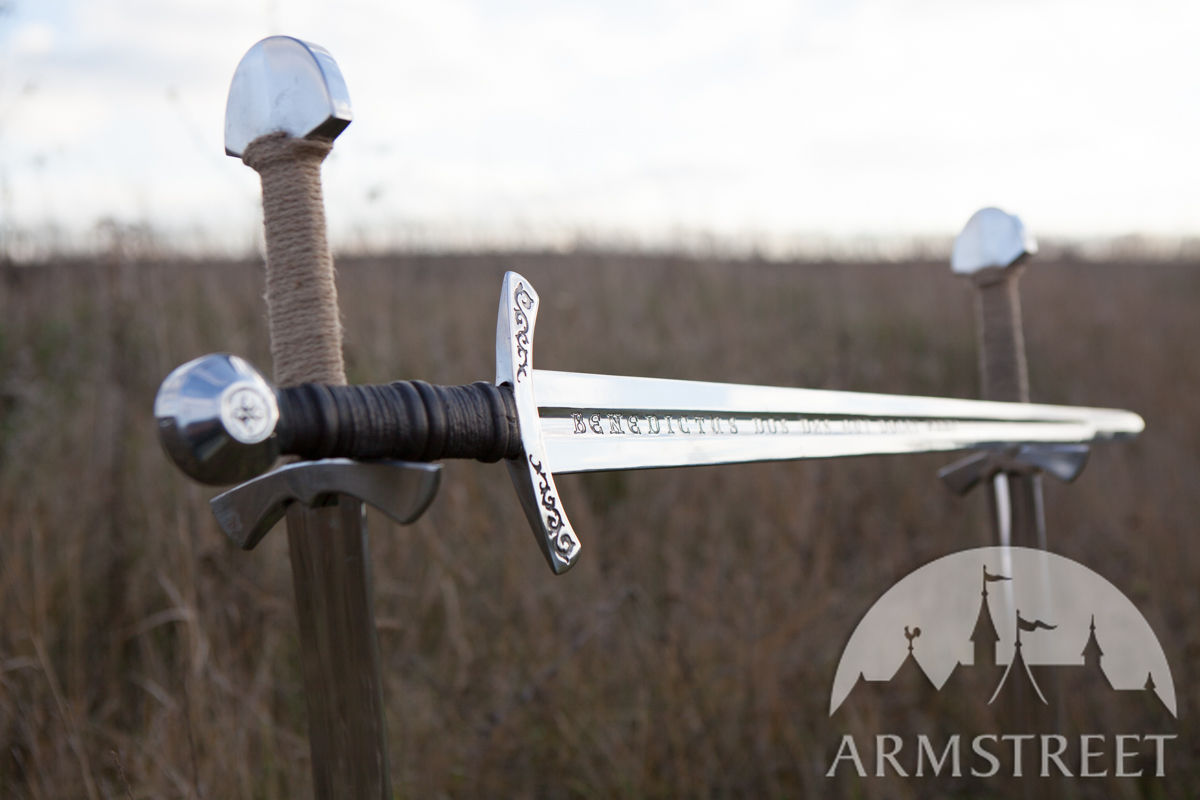 western etched knight sword rebated steel    by medieval store armstreet