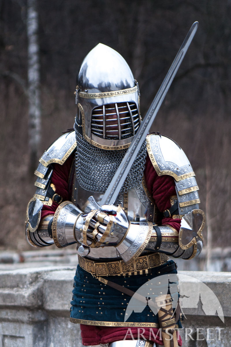 Western Knight's Plate Pauldrons SCA . Available in ... Medieval Knights Armor