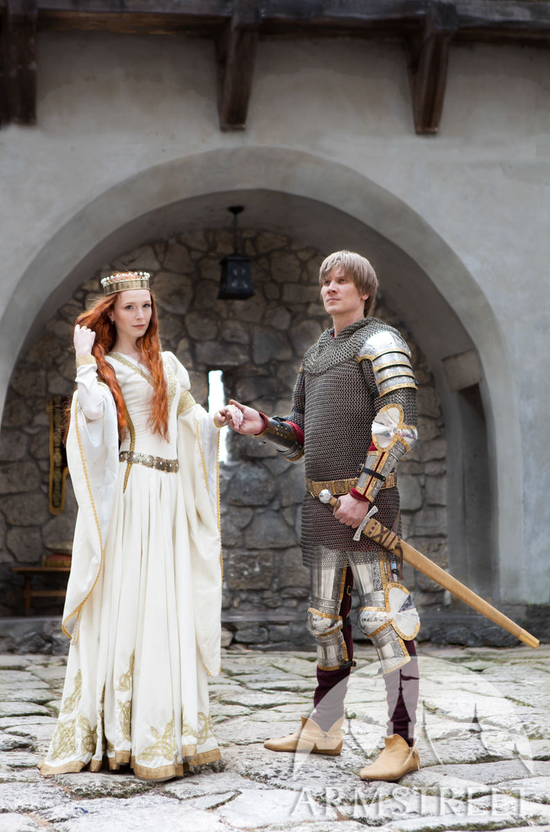 """White Dress """"The Accolade"""" Medieval Wedding. Available In"""