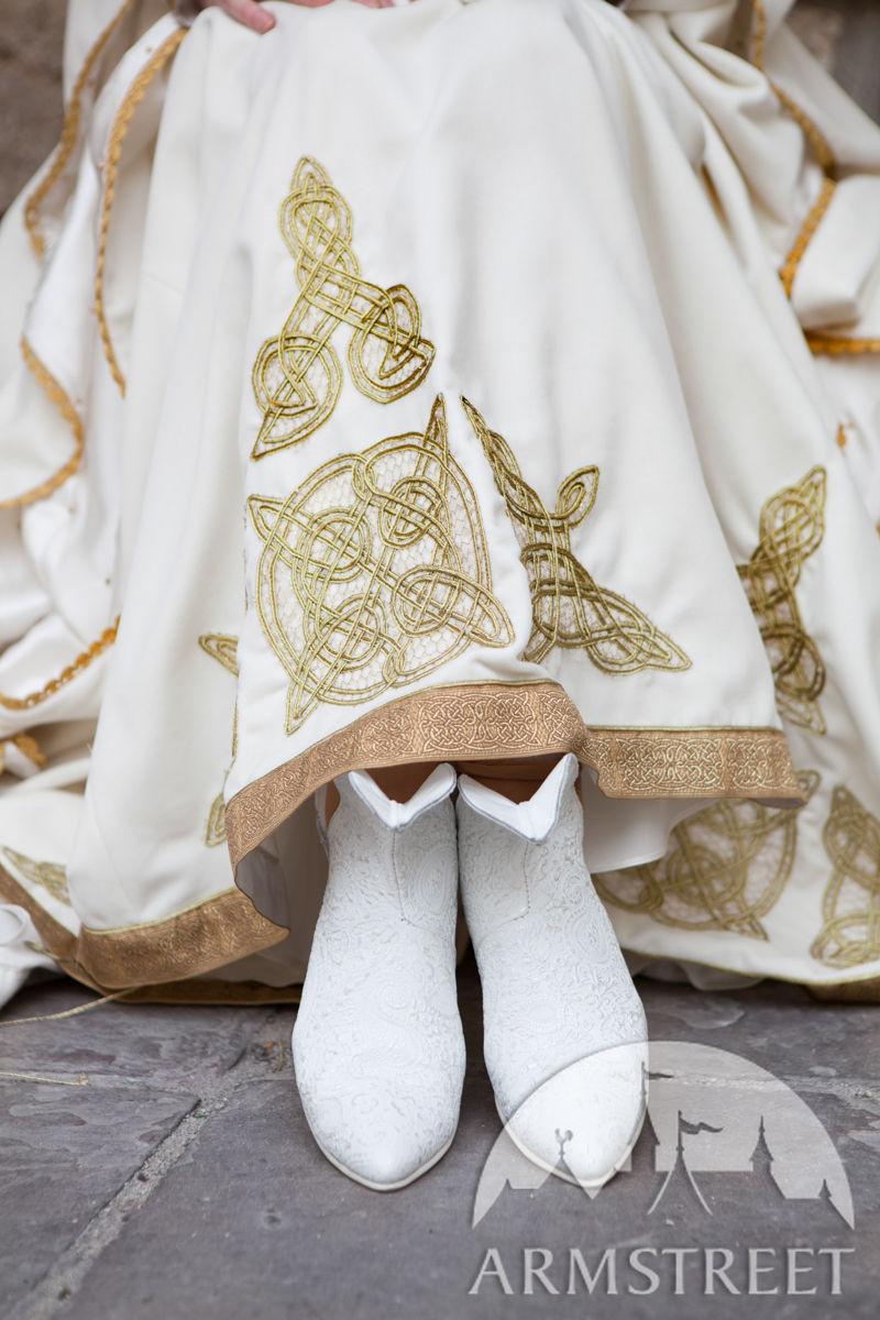 "22978037cf8a8 White Velvet Wedding Dress ""The Accolade"""