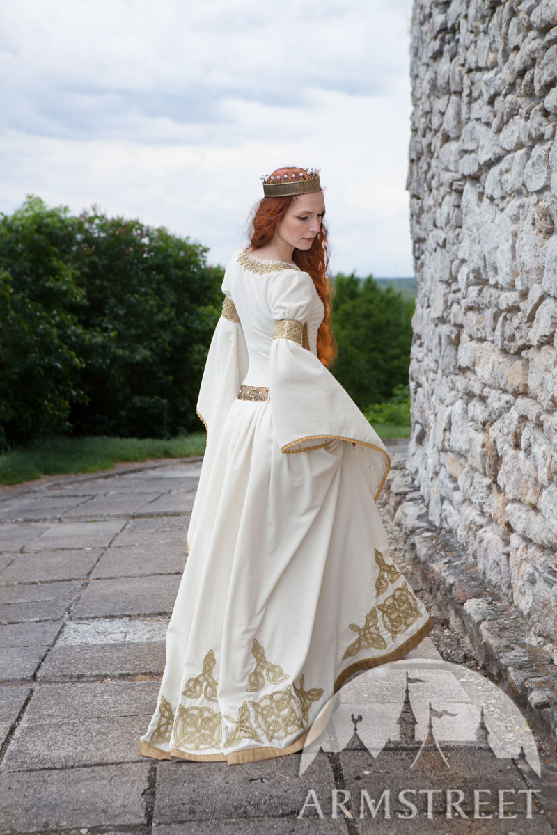 white dress the accolade medieval wedding available in. Black Bedroom Furniture Sets. Home Design Ideas