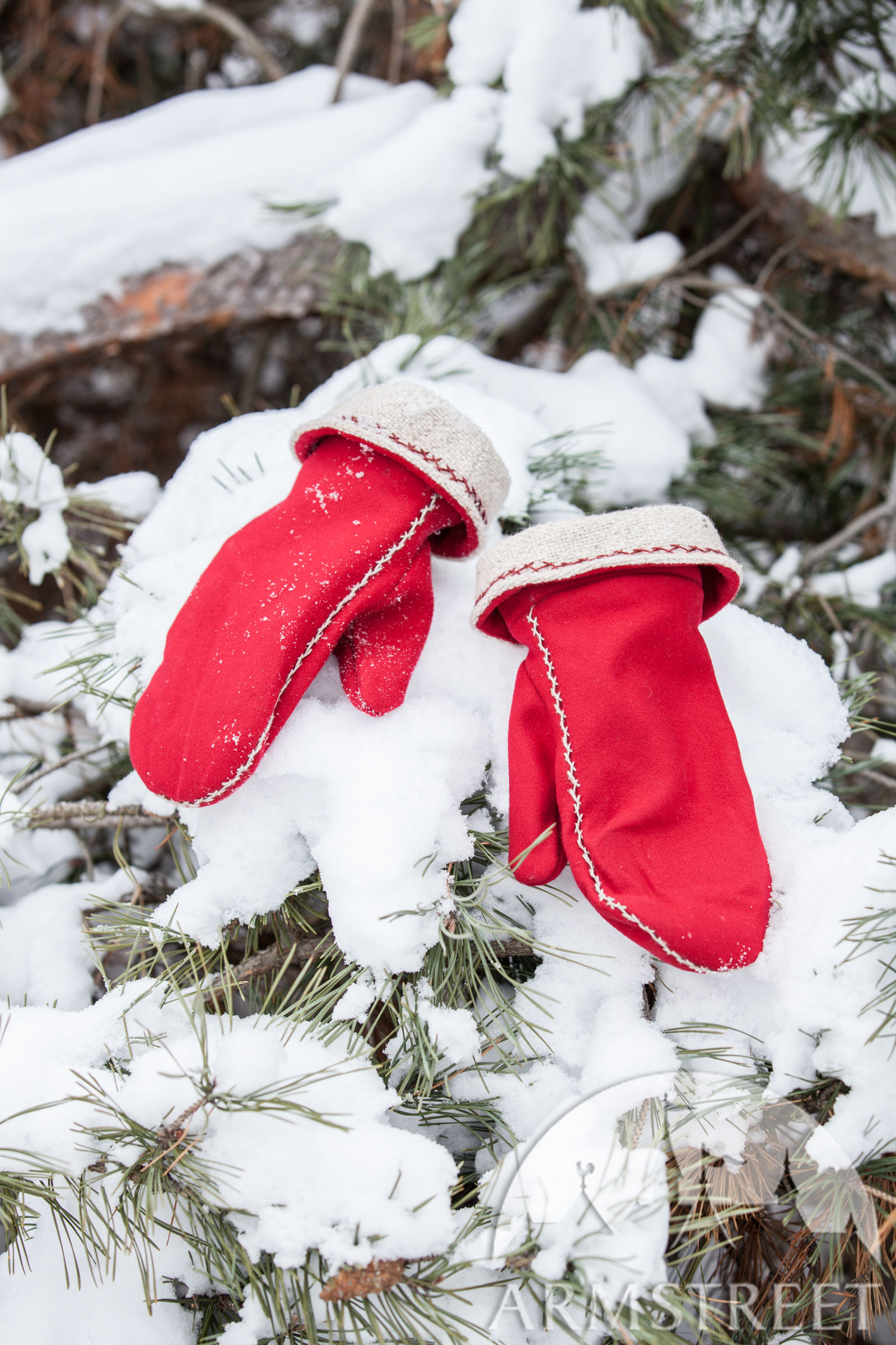 Winter Viking Mittens Yule Edition Available In Red
