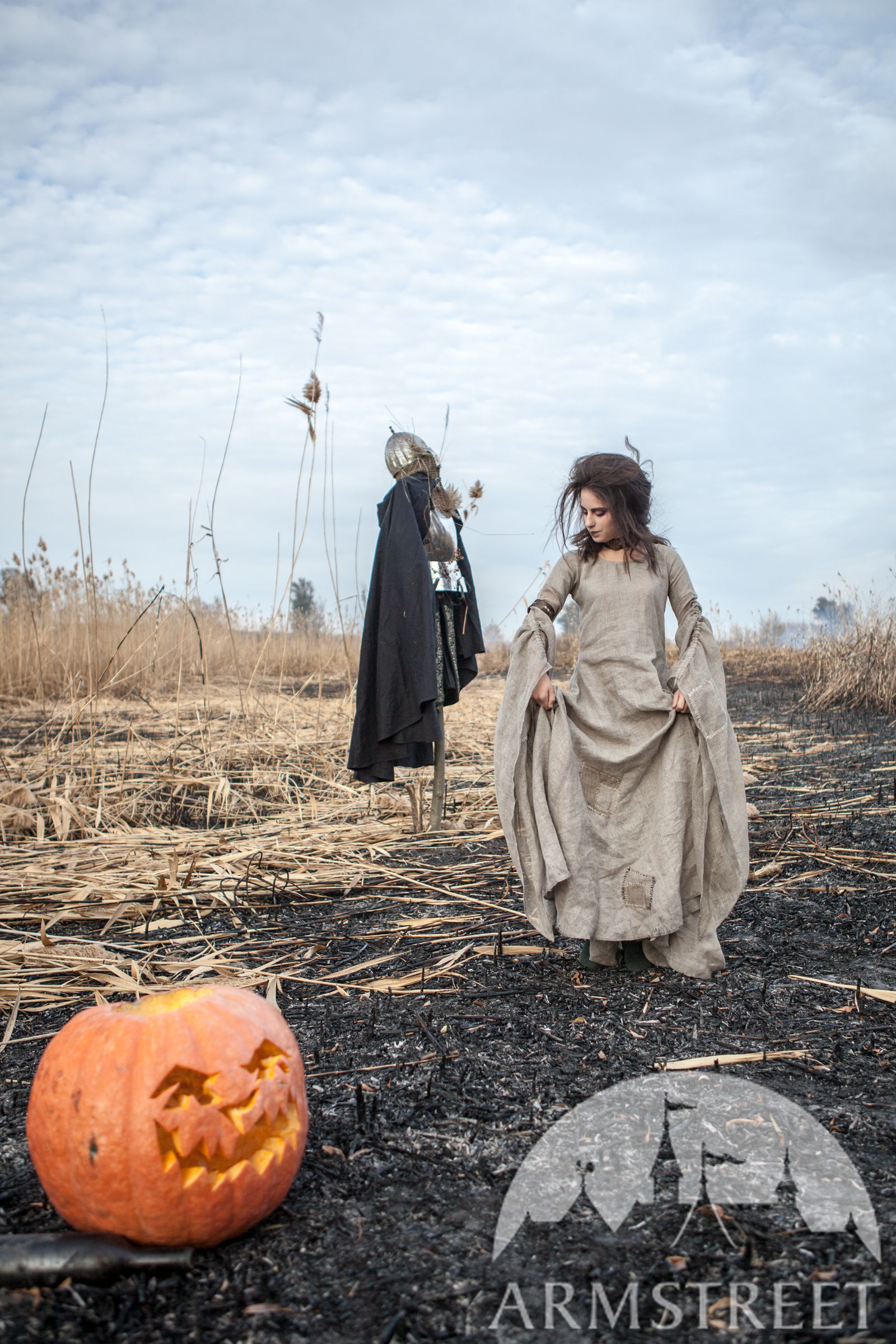 Halloween Linen Witch Tunic Available In Sackcloth Flax