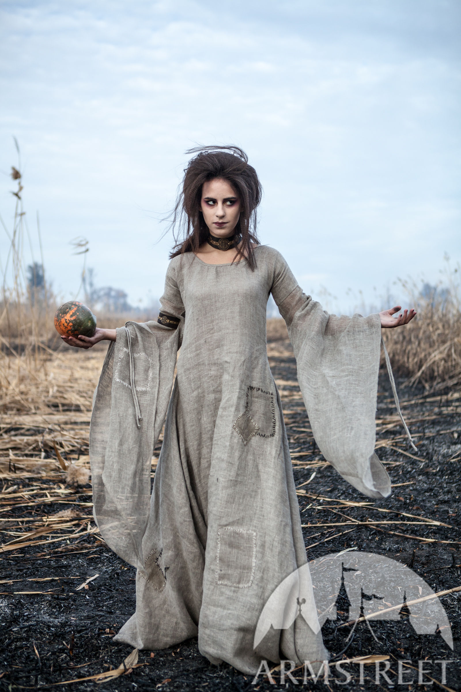 Halloween Linen Witch Tunic. Available in  sackcloth flax linen    by  medieval store ArmStreet