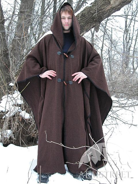 Wool Cape Robe Cloak For Sale Available In Black Flax