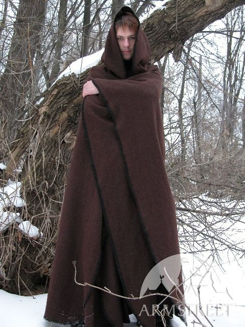 7bb8fb86088 Wool Cape Robe Cloak for sale. Available in  black flax linen    by  medieval store ArmStreet