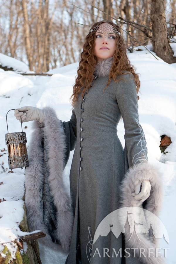 Fantasy medieval style coat Heritrix of the Winter
