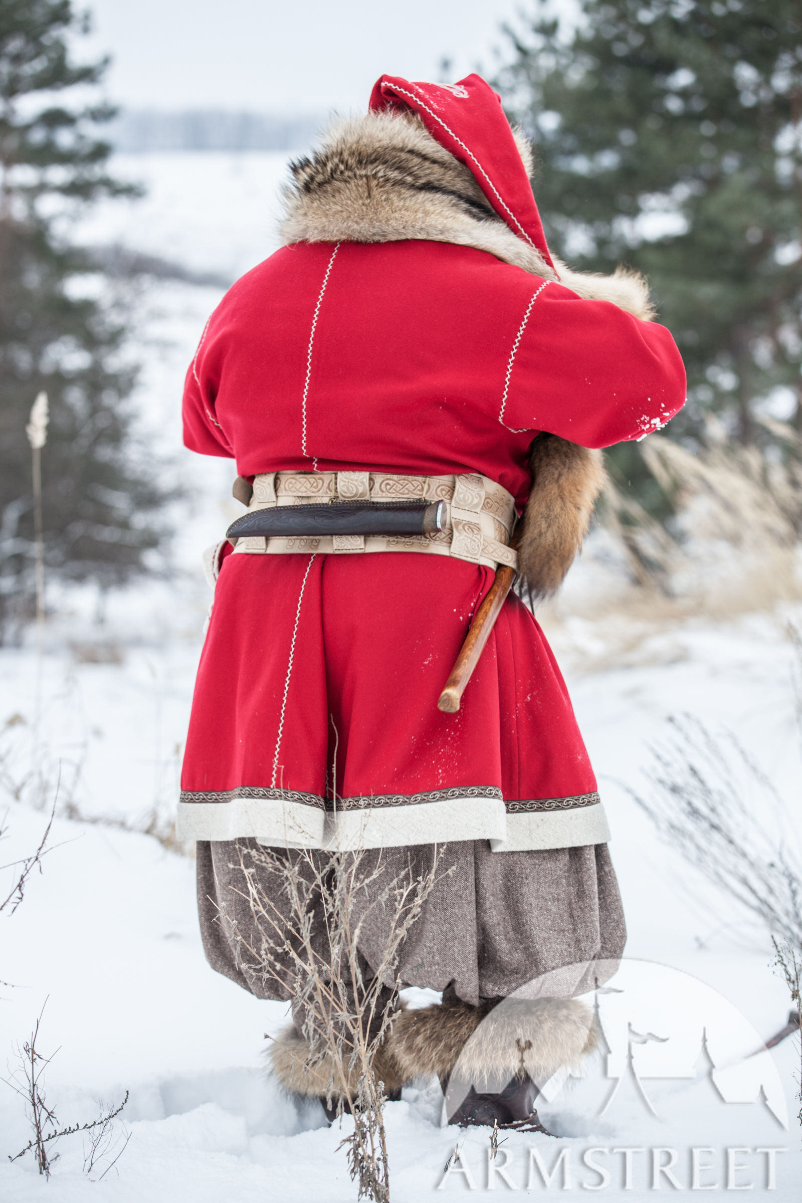Woolen Viking Coat Yule Edition Available In Black