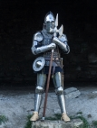 Etched stainless steel suit of armor