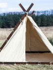 Renaissance Fair and SCA Medieval Viking Camping Tent