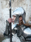 Open fantasy helmet and matching gorget