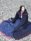 "Embroidery on Woolen Cloak ""Forget Me Not"" by ArmStreet"
