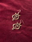 "Franks Brass Earrings ""Trefoil"""