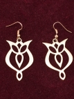 "Medieval Brass Earrings ""Trefoil"""