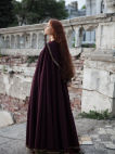 Medieval Red Hooded Cloak