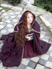 Medieval Woolen Hooded Cloak