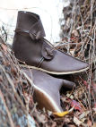 Handmade Dark-age Medieval Leather Shoes Boots