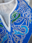 "Linen Embroidered Viking Tunic ""Jarl Eric"""