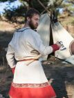 "Linen Viking Tunic ""Olaf the Hunter"" with decoration"