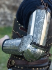 "Medieval Armor Arms ""Knight of Fortune"" Stainless"