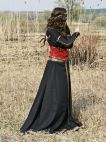 Medieval Black Cotton Dress With Bodice Vest Quot Lady Hunter