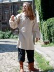 Medieval classic tunic natural flax linen