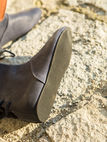 Medieval leather shoes slim-fit