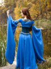 "Medieval style suede bodice corset belt ""Lady of the Lake"""