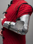 Medieval etched arm armour knight western SCA arms