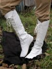 "White medieval fantasy high boots ""Forest"""