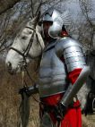 Hussar medieval armor - flexible cuirass and winged helmet