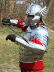 Hussar medieval armor - Polish hussar historically accurate armour set - deep bazubands and winged h
