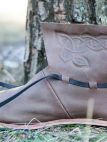 Medieval leather shoes Viking