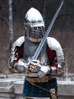 "Western Knight's Pauldrons ""The King's Guard"" SCA"
