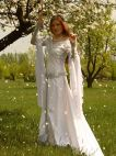 MEDIEVAL WHITE WEDDING BRIDAL  DRESS  ISOLDE