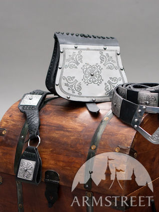 Bag, Belt and Frog Set with Western Pattern