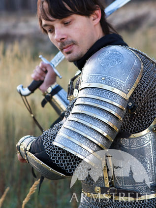 "Eastern Style ""Prince of the East"" Medieval Armor Pauldrons set"