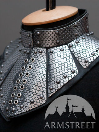 Fantasy Gorget: Leather and Stainless Steel