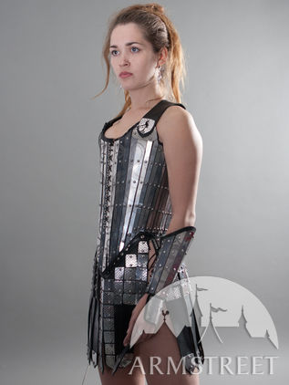 Fantasy Lady-Warrior Functional Etched Armor Corset