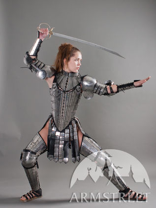 "Fantasy Leg Armour ""Lady Warrior"""