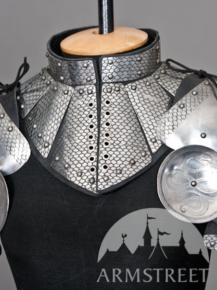 "Fantasy Pauldrons and Gorget Set ""Lady Warrior"""