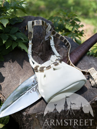 "Leather ""Elven"" Pouch Bag"