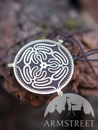 "Medallion Necklace ""Labyrinth"""
