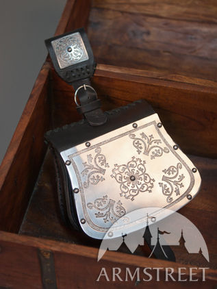Medieval Bag with Etched Steel Western Pattern