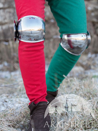 Medieval Combat Knee Cops with Round Leaf